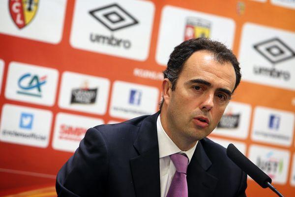 Ignacio Aguillo lors de sa première conférence de presse à Lens le 23 mai 2016.