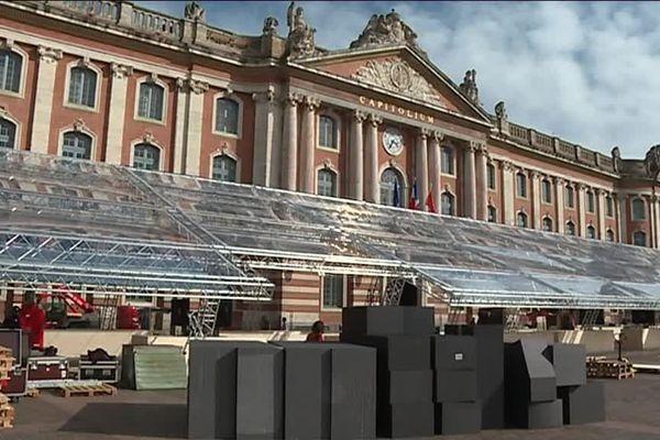 """Au Capitole, un immense barnum va accueillir la manifestation """"Toulouse 2030"""""""