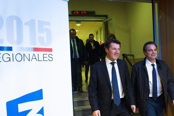 Christian Estrosi et Renaud Muselier après le débat du second tour à France 3.