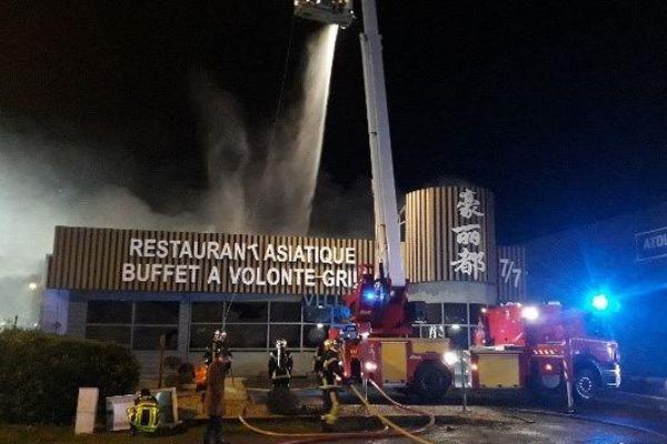 Le restaurant asiatique touché par un incendie dans la nuit de samedi à dimanche