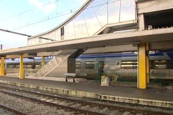 Train en gare de Limoges (illustration)