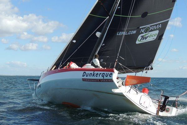Thomas Ruyant va désormais convoyer le class 40 de son co-équipier Bruno Jourdren en Bretagne