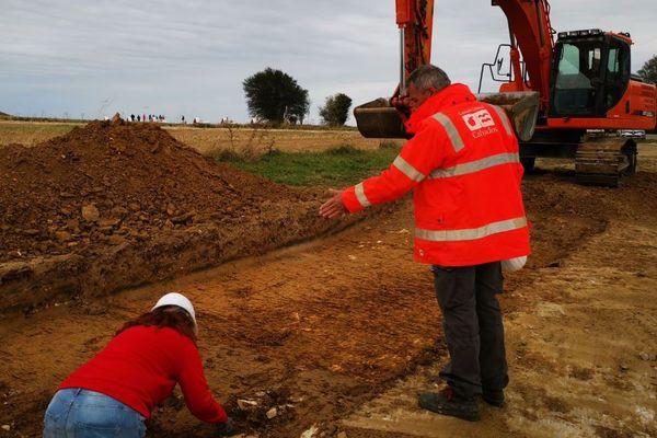 Ils sont sept fonctionnaires archéologues à travialler chaque jour sur des fouilles préventives pour le département du Calvados
