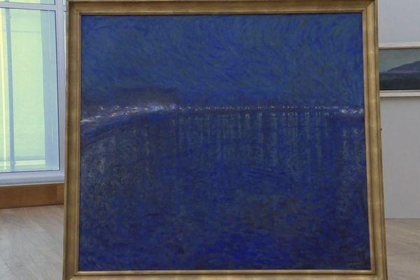 """L'une des œuvres exposées au MUMA du Havre pour """"Lumières électriques"""" : """"Nocturne"""" d'Eugène JANSSON (1862-1915). 1900, huile sur toile, 136 x 151 cm. Gothenburg, Museum of Art, Suède"""