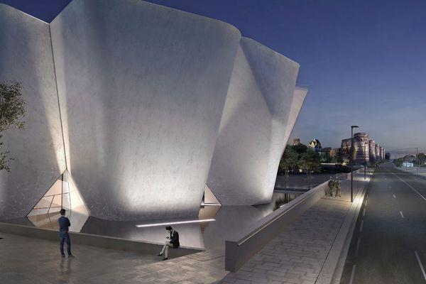 Le futur Musée des collectionneurs tel qu'imaginé par le cabinet Steven HOLL / Franklin AZZI
