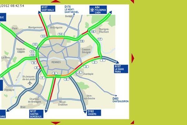 La carte du trafic sur biwon-futé