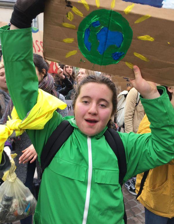 Elma Duval à la marche pour le climat, 15 mars 2019
