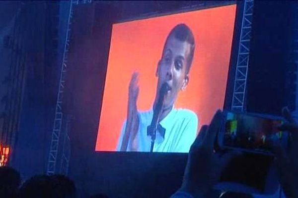 Stromae en concert à Beauregard, le 4 juillet 2014