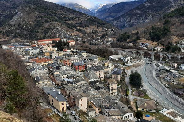 La commune de Tende (Alpes-Maritimes), après le passage de la tempête Alex.