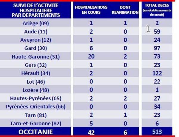 Coronavirus : le nombre d'hospitalisations reste faible en Occitanie