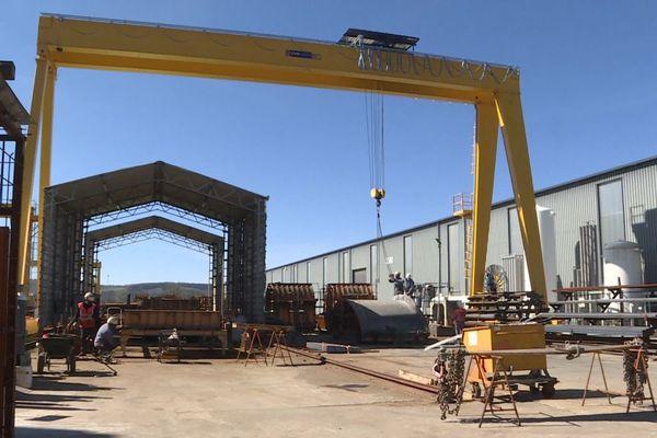 Basée dans le Cantal, l'entreprise Matière est spécialisée dans la construction de ponts et de structures métalliques.