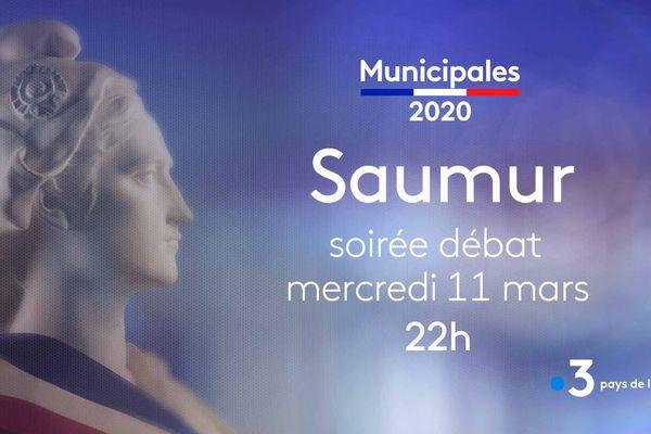 Municipales 2020, débat à Saumur, le 11 mars à 22h sur France 3 Pays de la Loire