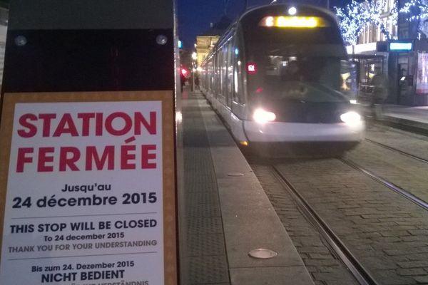 La station tram Broglie est fermée normalement jusqu'au 24 décembre