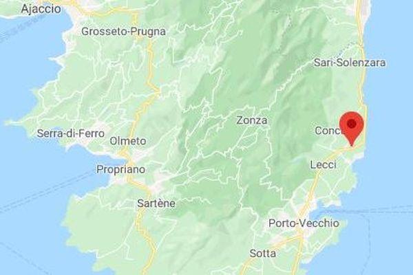 C'est sur la route, très fréquentée, qui relie Porto-Vecchio a Bastia qu'a eu lieu l'accident