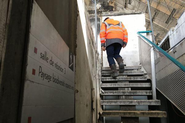 Le chantier de la mairie d'Annecy ne s'achèvera pas avant la fin 2023.