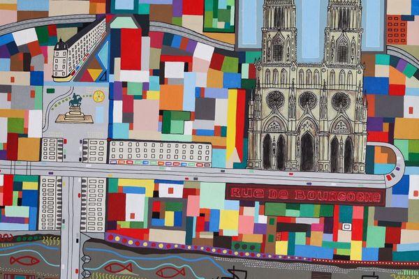 La ville d'Orléans, une peinture de Louis Stecken