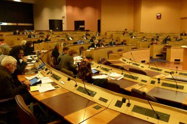 L'hémicycle de Metz. C'était la dernière séance de la Région Lorraine, jeudi 5 novembre 2015.