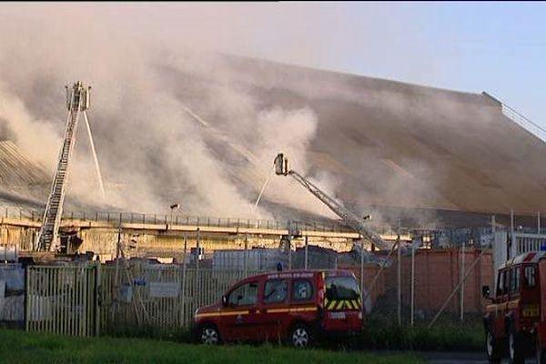 L'incendie de l'usine CITRON en octobre 2010