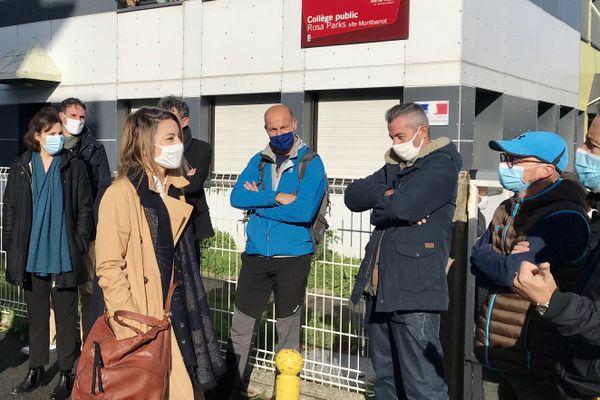 Les enseignants du collège Rosa Parks font valoir leur droit de retrait à Rennes