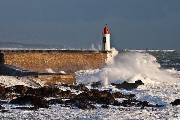 Une tempête hivernale en Vendée