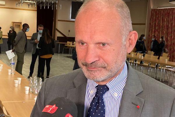 Laurent Touvet, préfet de la Moselle. Vendredi 8 octobre à Carling