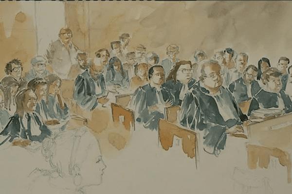 La salle d'audience, lors du procès de l'accident ferroviaire de Saint-Médard - le 18/04/2018