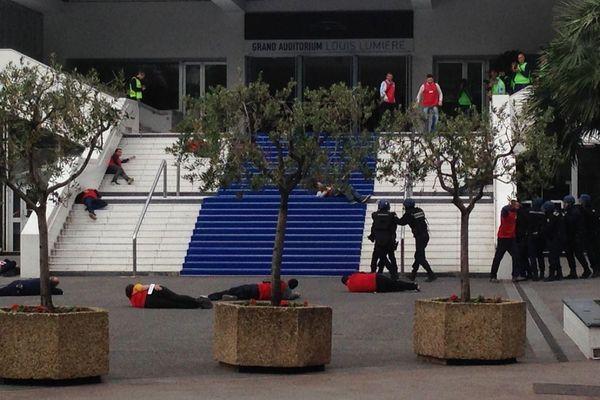 Simulation d'un attentat à Cannes