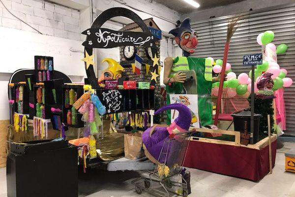 Préparatifs pour le défilé du dimanche 1er mars du Carnaval de Mouans Sartoux