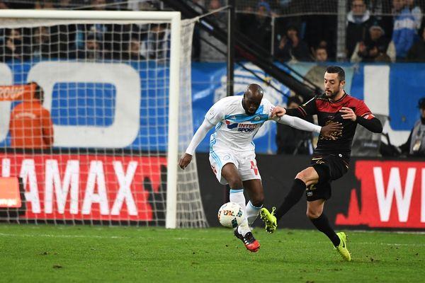 Guingamp contre Marseille lors de la 24è journée de Ligue 1