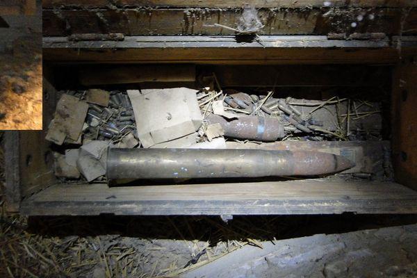 Une caisse de munitions trouvée chez un particulier