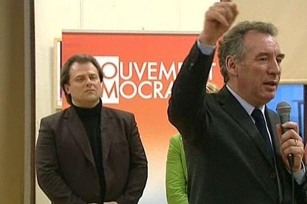François Bayrou et François Deseille lors d'une réunion du MoDem en 2010