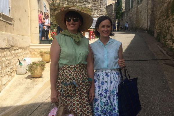 Carole Bergeri, habitante de Saint-Marcel-de-Careiret, dans le Gard, est figurante pour le film de Nicolas Vanier - juin 2019