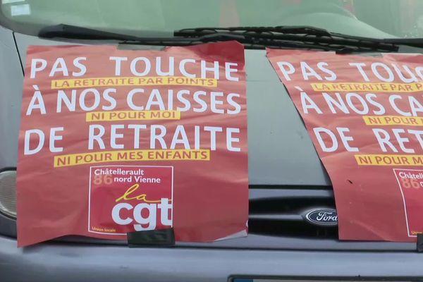 Manifestation contre la réforme des retraites à Châtellerault