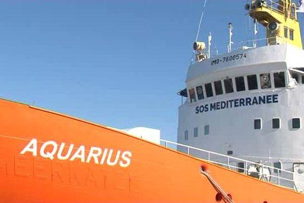 L'Aquarius à quai à Marseille le 19 février.