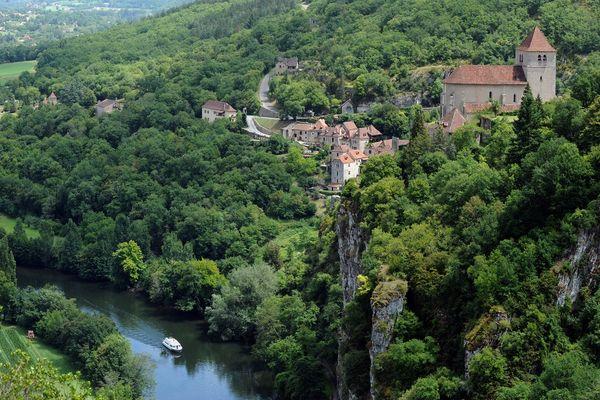 Saint-Cirq-Lapopie, dans le Lot.
