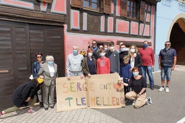 A Marlenheim le soutien de la famille et des amis était permanent. Beaucoup de gens se sont déplacés pour l'accueillir à son retour le 13 mai 2020.