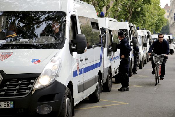 Présence policière hier dans le centre ville de Lyon