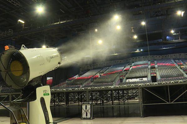 Le protocole sanitaire prévoit une désinfection de la salle pour le concert-test à Marseille.