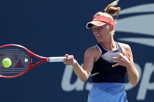 La joueuse de tennis Fiona Ferro à l'US open. Elle affronte la 18ème joueuse mondiale ce vendredi 30 août.