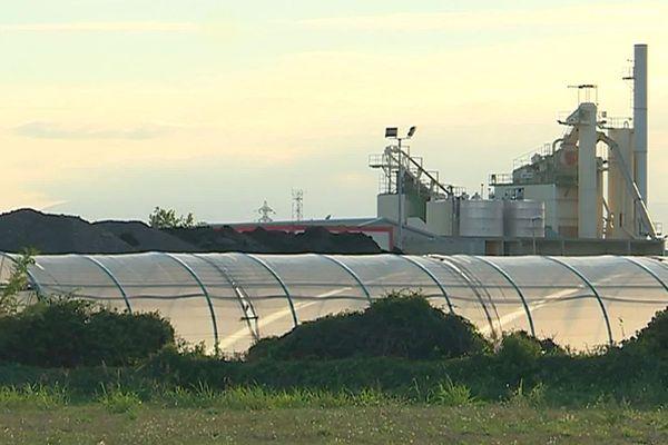 Perpignan - Saint-Estève - l'usine de bitume Roussillon enrobés et son projet d'extension - octobre 2019.
