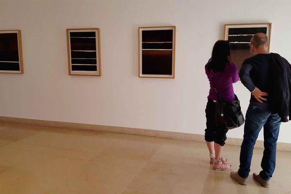 Le musée Picasso expose des oeuvres de Pierre Soulages jusqu'au 26 juin 2016