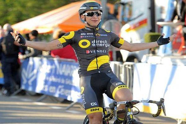 Beaucaire (Gard) - Bryan Coquard remporte la 1ère étape Bellegarde-Beaucaire - 3 février 2016.