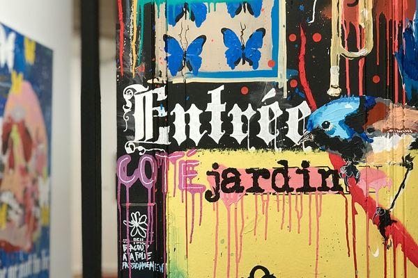 L'artiste Cieu, qui expose actuellement au théâtre d'Orléans, organise plusieurs chasses aux papillons