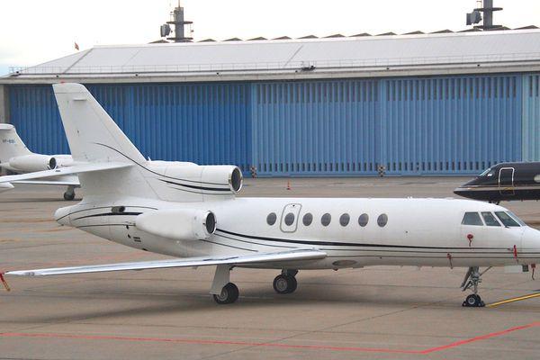 Illustration - Falcon 50, du type de celui où 700 kilos de cocaïne ont été saisis à l'aéroport de Punta Cana, le 19 mars 2013.