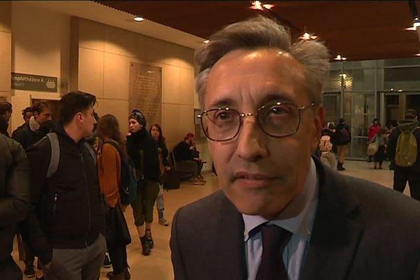 Philippe Pétel, doyen de la faculté de droit de Montpellier le 22 mars 2018.