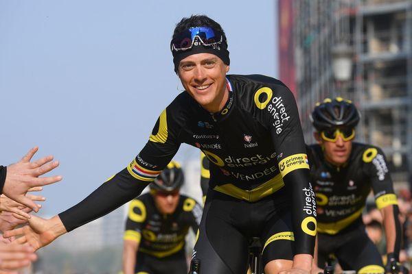 Niki Terpstra, le 7 avril 2019 au départ du Tour des Flandres.