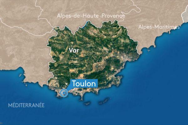 La ville de Toulon, préfecture du Var.