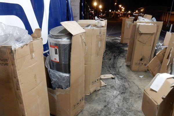 La cargaison illicite était cachée dans des filtres industriels.