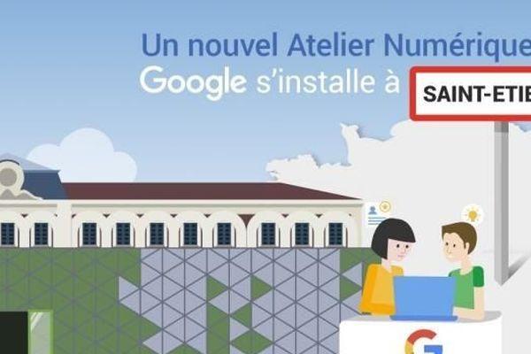 Le géant du web Google implante ses premiers ateliers numériques de la région Rhône-Alpes Auvergne à Saint-Etienne