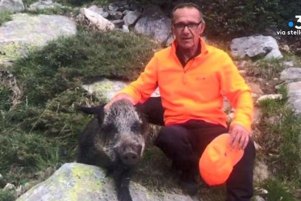 Jean Livrelli, lors d'une partie de chasse